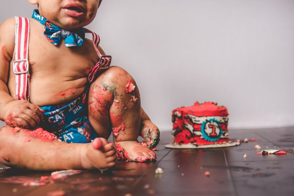 smash cake photography